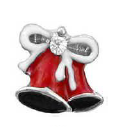 FLC79 - Christmas Bells With Stone, Floating Charm