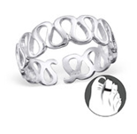 C207-C20690 - Sterling Silver Wave Pattern Toe Ring