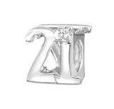 C71-C4749 - 925 Sterling Silver 21 European Charm Bead