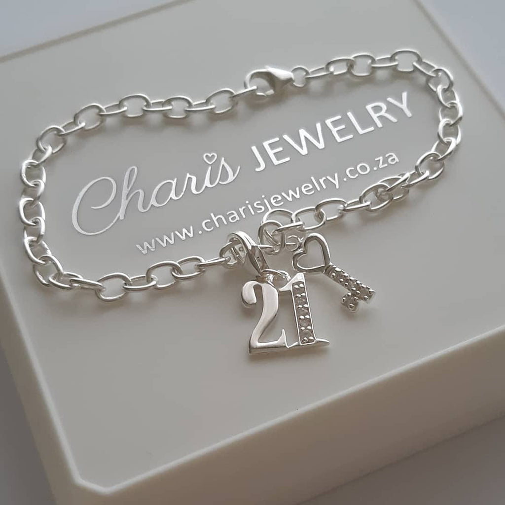 21st Birthday Gift Charm Bracelet Online Jewellery Shop In South Africa