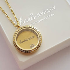personalized floating locket necklace, online store South Africa