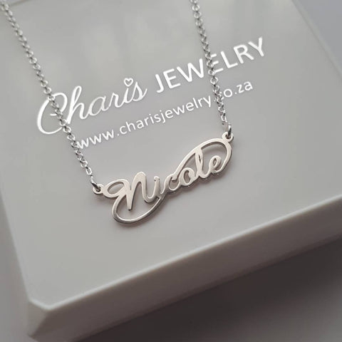 N788 - 925 Sterling Silver Personalized Nicole Name Necklace