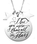 N50 - Sterling Silver Love you more than all the stars Necklace