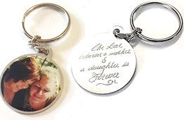 JB-EJ30 - Stainless Steel Personalized Photo and Engraved Message Round Keyring