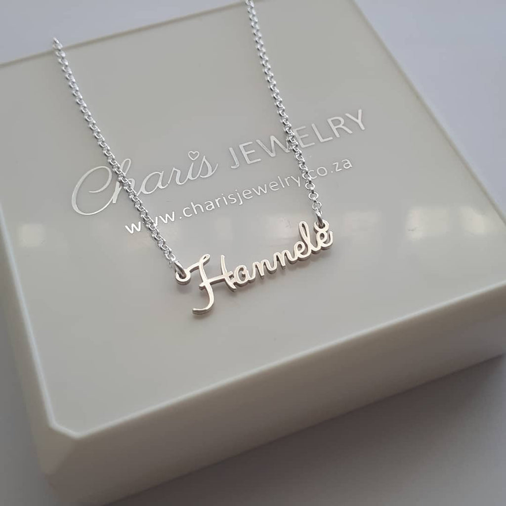 55cf01dbaef41 N785 - 925 Sterling Silver Personalized Wire Cursive Name Necklace ...