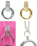 FL132 - Crystal Loop, optional, can be added on your chain for extra bling, or to clip dangles on.
