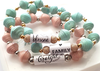 HA10 - Grateful Inspirational Stretch Bracelet, in a gift box.