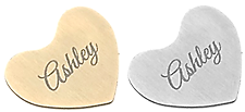 FLPD10 - Personalized Stainless Steel Name Heart, silver or gold
