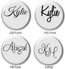 FLPD1 - Personalized Name Disc for Floating locket Necklace, Stainless Steel