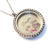 FL120 - Beautiful Daughter of the King Stainless Steel Locket Necklace