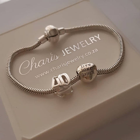 C265+C125+C111 - 40th Birthday Charm Bracelet & Charms, 925 Sterling Silver