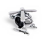 C126-C4172 - 925 Sterling Silver Helicopter European Charm Bead