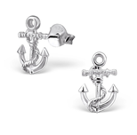 Sterling silver anchor ear studs online store in South Africa