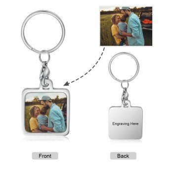 CAS102433 - Personalized Photo keyring, Stainless Steel