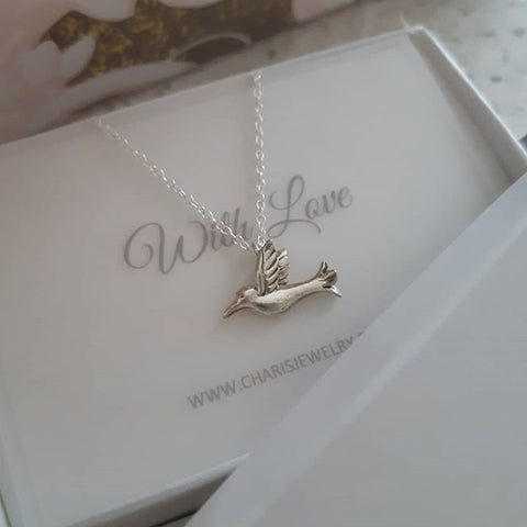 C760-C32250 - 925 Sterling Silver Bird Necklace