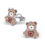 C1050-C18666 - 925 Sterling Silver Children's Teddy Bear Earrings
