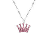 C1060-C29856 - 925 Sterling Silver Children's Crown Necklace