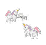 C1045-C35138 - 925 Sterling Silver Children's Unicorn Earrings