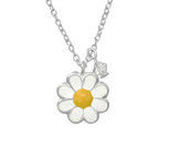 C1055-C32746 - 925 Sterling Silver Children's Flower Necklace