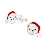 C975-C33590 - 925 Sterling Silver Christmas Teddy Bear Ear Stud Earrings