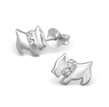 C1046-C13912 - 925 Sterling Silver Dog Earrings