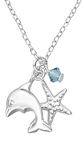 C685-C32733 - 925 Sterling Silver Children's Dolphin Sea Necklace