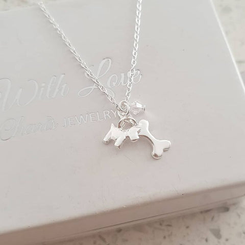 A326-C32737 - 925 Sterling Silver Children's Dog Necklace