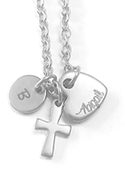 EJ6 - Personalized Custom Engraved Necklace (with up to 7 initials or names)