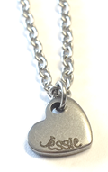 EJ8 - Personalized Custom Engraved Name Dainty Heart Necklace (Children to Adults)