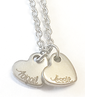 EJ4 - Personalized Custom Engraved Hearts Necklace (up to 7 hearts)