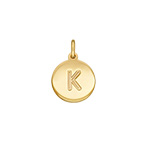 N1042 - Gold Plated 925 Sterling Silver Initial Letter Charm Dangle