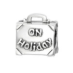 C1201-C4395 - 925 Sterling Silver Sister On Holiday Charm Bead