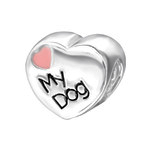 C1196-C9623 - 925 Sterling Silver Sister Love my dog Charm Bead