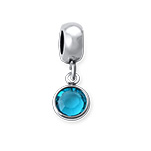 N1025 - 925 Sterling Silver Personalized Birthstone European Charm Bead Dangle