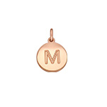 N1043 - Rose Gold Plated 925 Sterling Silver Initial Letter Charm Dangle