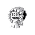 C1202-C13785 - 925 Sterling Silver Best Mum Charm Bead