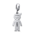 N1020 - 925 Sterling Silver Personalized Boy European Charm Bead Dangle