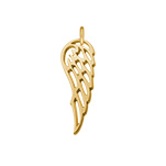 N1029 - Gold Plated 925 Sterling Silver Wing Charm Dangle
