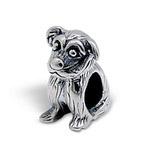 C1198-C4480 - 925 Sterling Silver Sister Dog Charm Bead