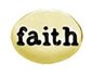 FLC70 - Faith Oval (Silver tone or Gold Tone)