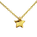 C466-C22346 - Gold Plated over Sterling Silver Star Necklace