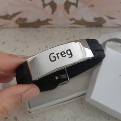 Men's personalized stainless steel wrist strap online store in SA