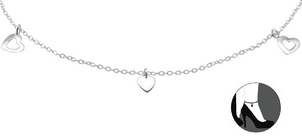 STERLING SILVER HEART ANKLE CHAIN ANKLET SOUTH AFRICA