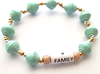 HA4 - Heart Family Inspirational Stretch Bracelet, in a gift box