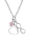 Sterling Silver Heart Infinity Necklace online store South Africa