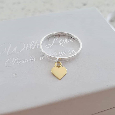 Children's Sterling Silver Heart Ring online store in South Africa