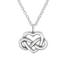 C133-C30873 - 925 Sterling Silver Infinity Heart Necklace 12 x 9mm