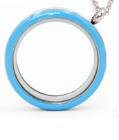 Blue floating locket necklace online store in South Africa