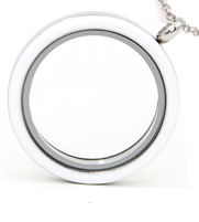 white floating locket necklace, online store in South Africa