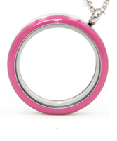 Pink floating locket necklace online store in South Africa